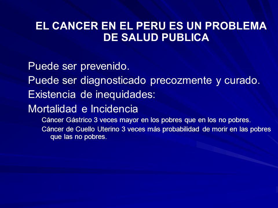 EL CANCER EN EL PERU ES UN PROBLEMA DE SALUD PUBLICA