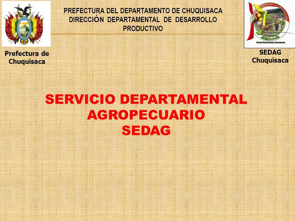 SERVICIO DEPARTAMENTAL AGROPECUARIO SEDAG