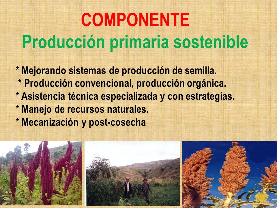 Producción primaria sostenible