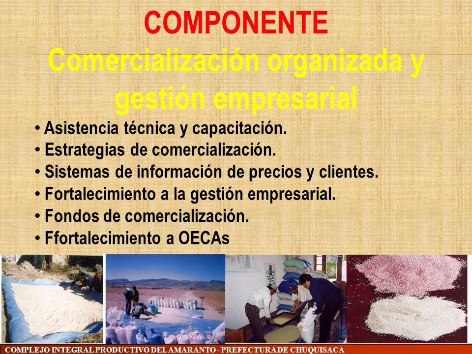 Comercialización organizada y gestión empresarial