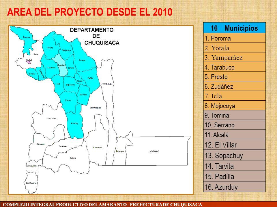 AREA DEL PROYECTO DESDE EL 2010