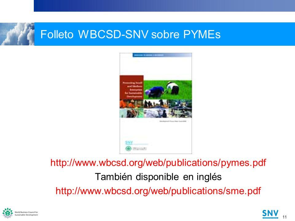 Folleto WBCSD-SNV sobre PYMEs