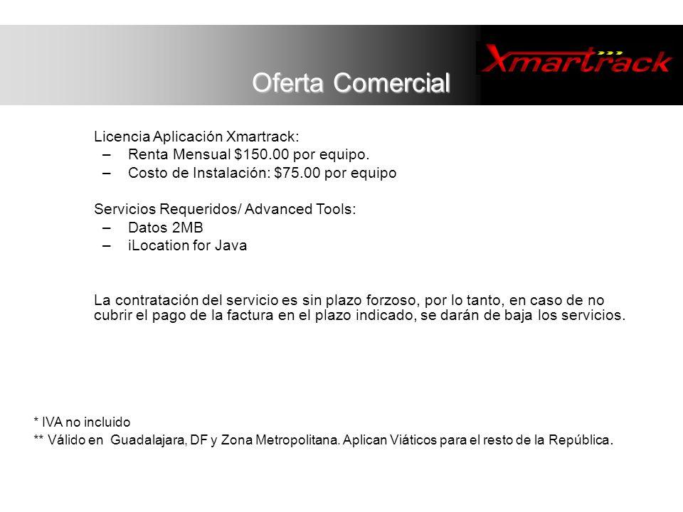 Oferta Comercial Licencia Aplicación Xmartrack:
