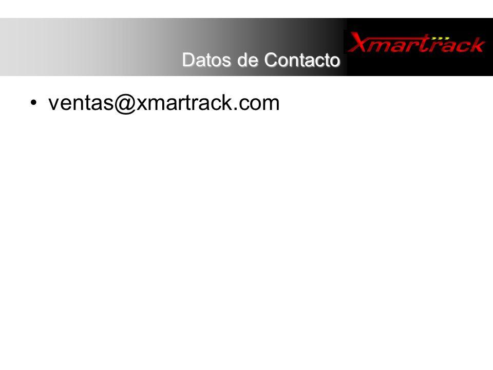 Datos de Contacto ventas@xmartrack.com 13