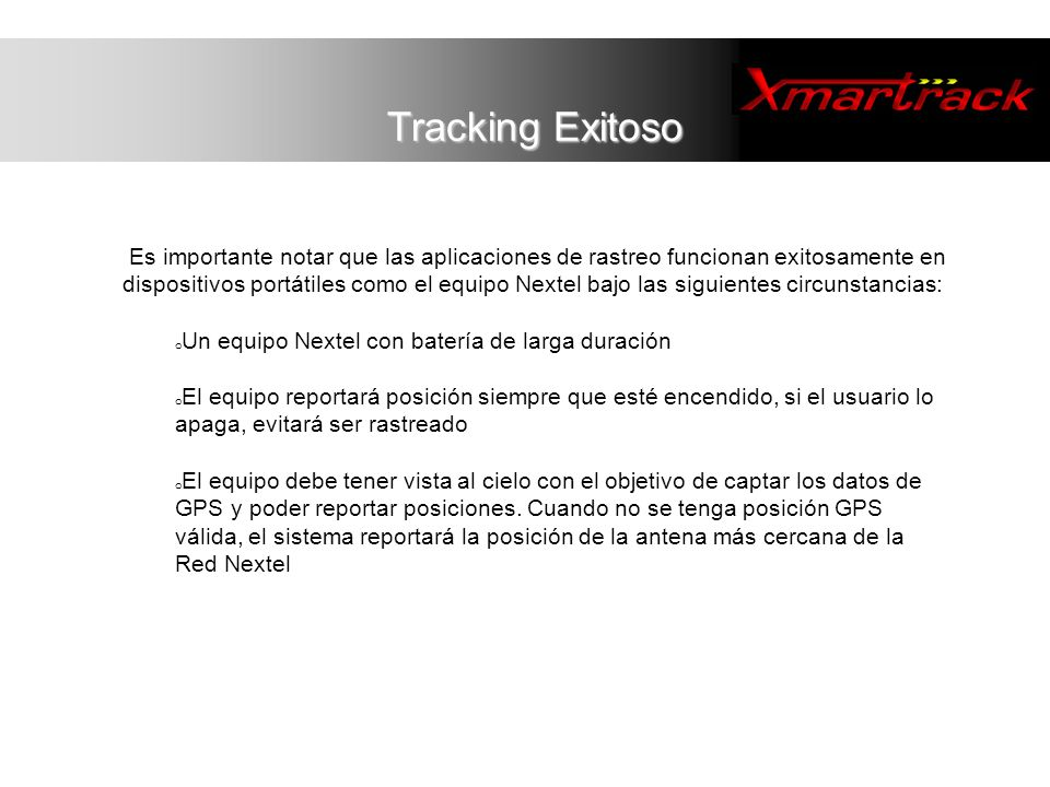 Tracking Exitoso