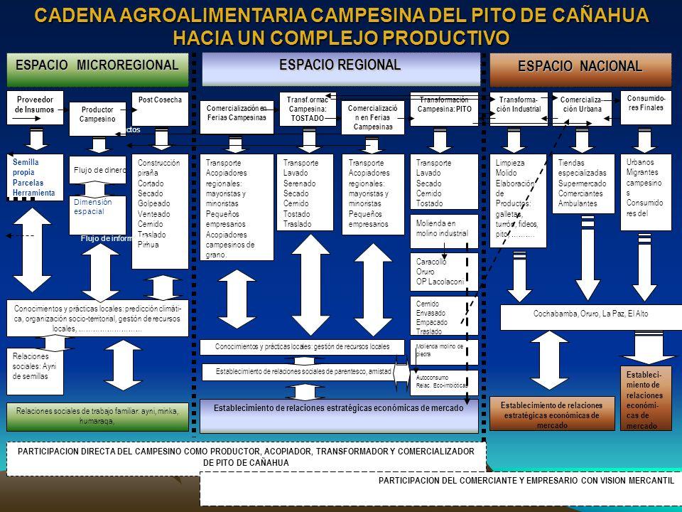 CADENA AGROALIMENTARIA CAMPESINA DEL PITO DE CAÑAHUA HACIA UN COMPLEJO PRODUCTIVO