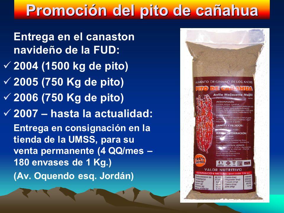 Promoción del pito de cañahua