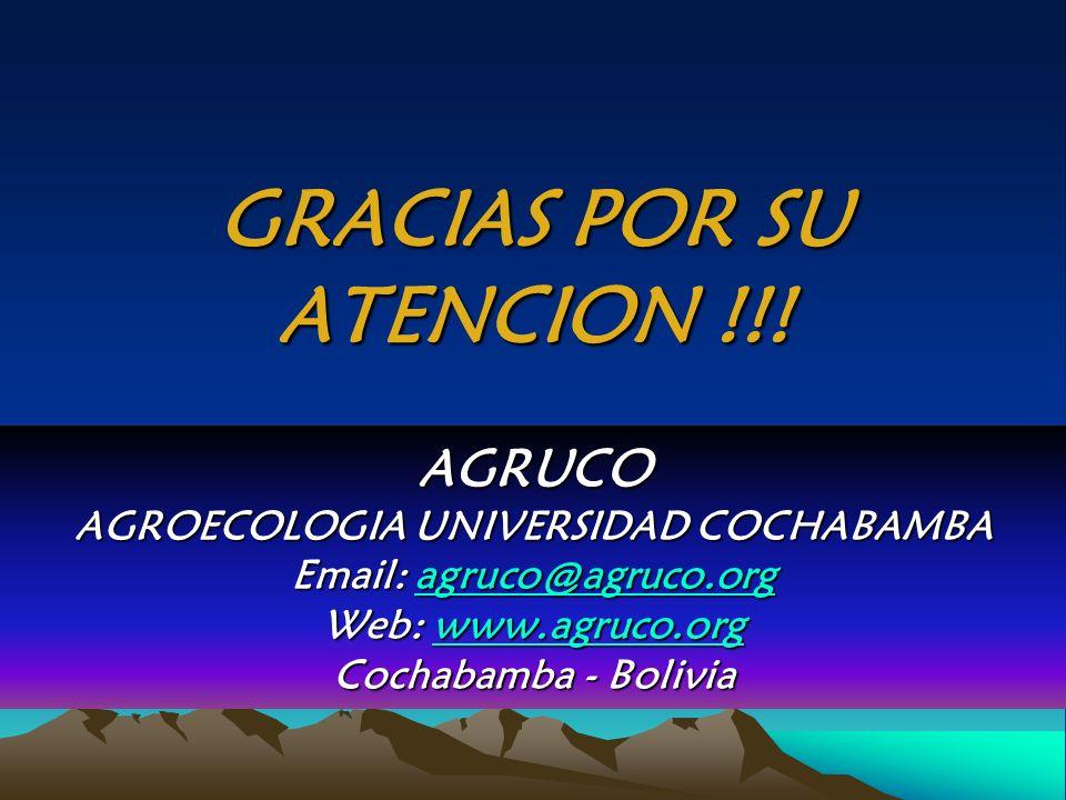 GRACIAS POR SU ATENCION !!!