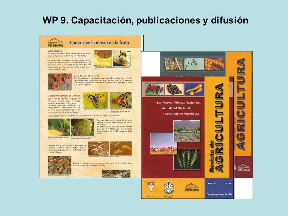 WP 9. Capacitación, publicaciones y difusión