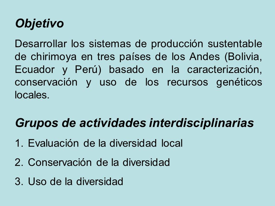 Grupos de actividades interdisciplinarias