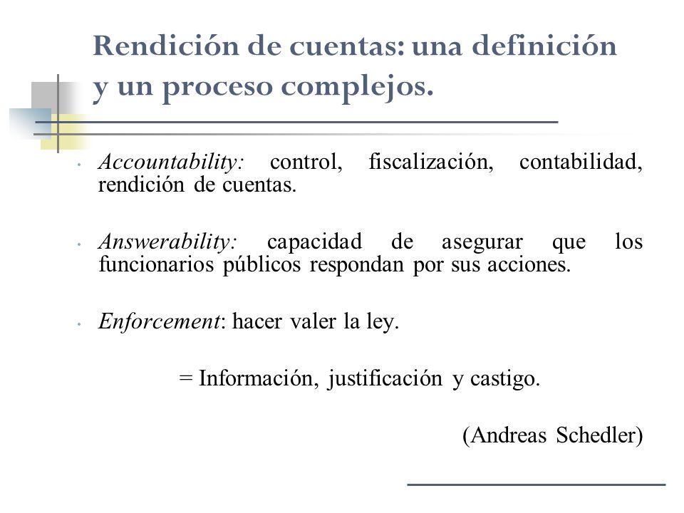 = Información, justificación y castigo.
