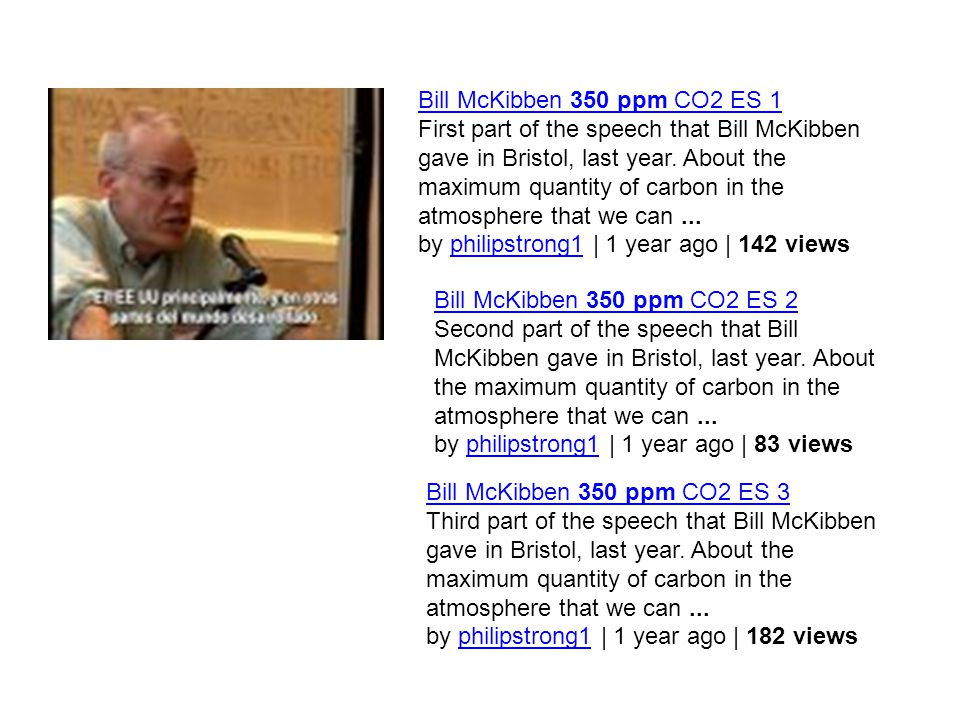 Bill McKibben 350 ppm CO2 ES 1