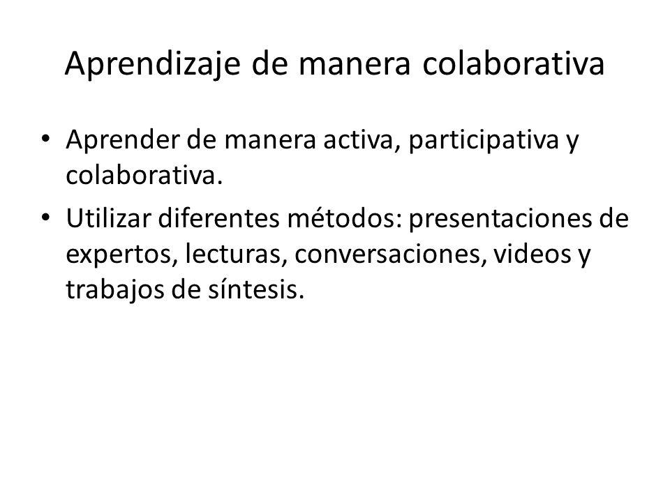 Aprendizaje de manera colaborativa