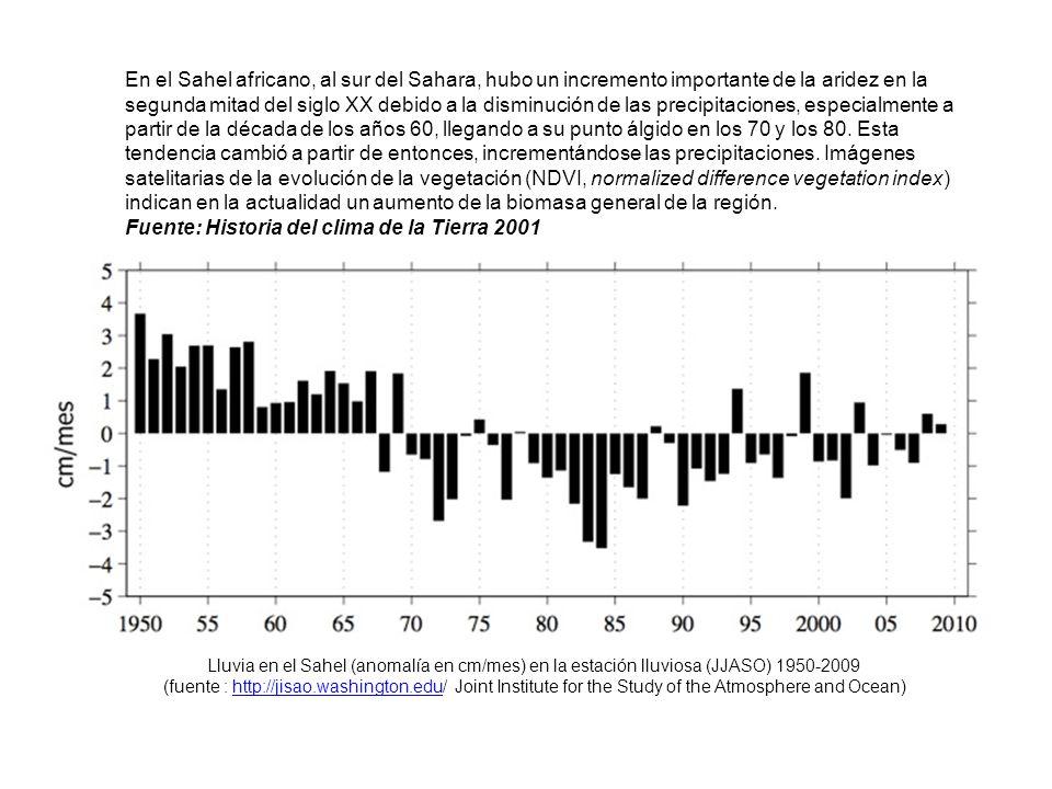 Fuente: Historia del clima de la Tierra 2001