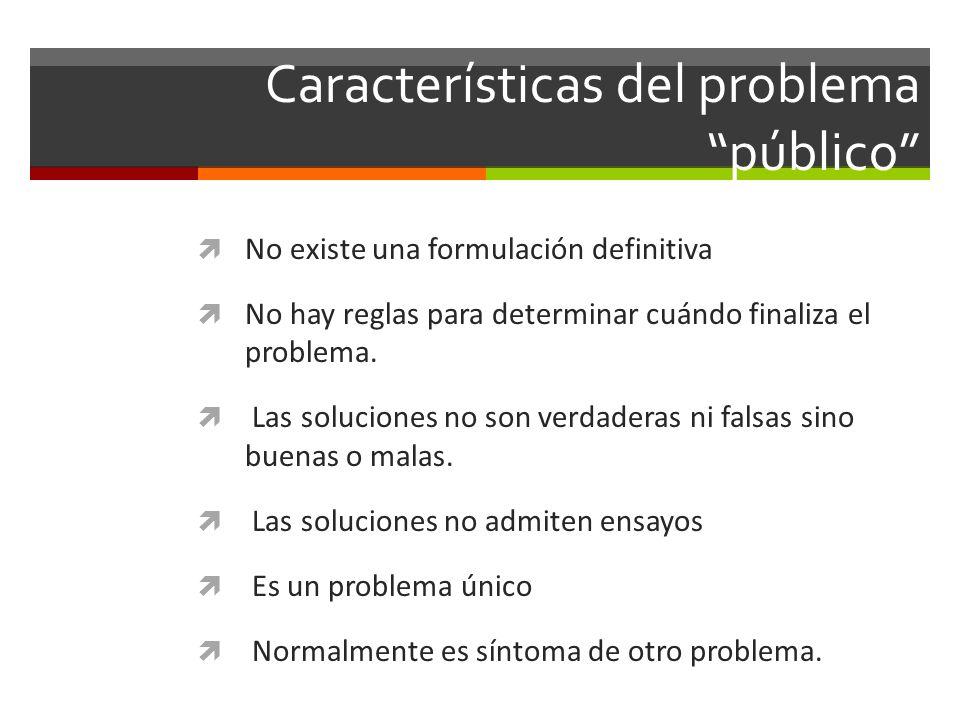 Características del problema público