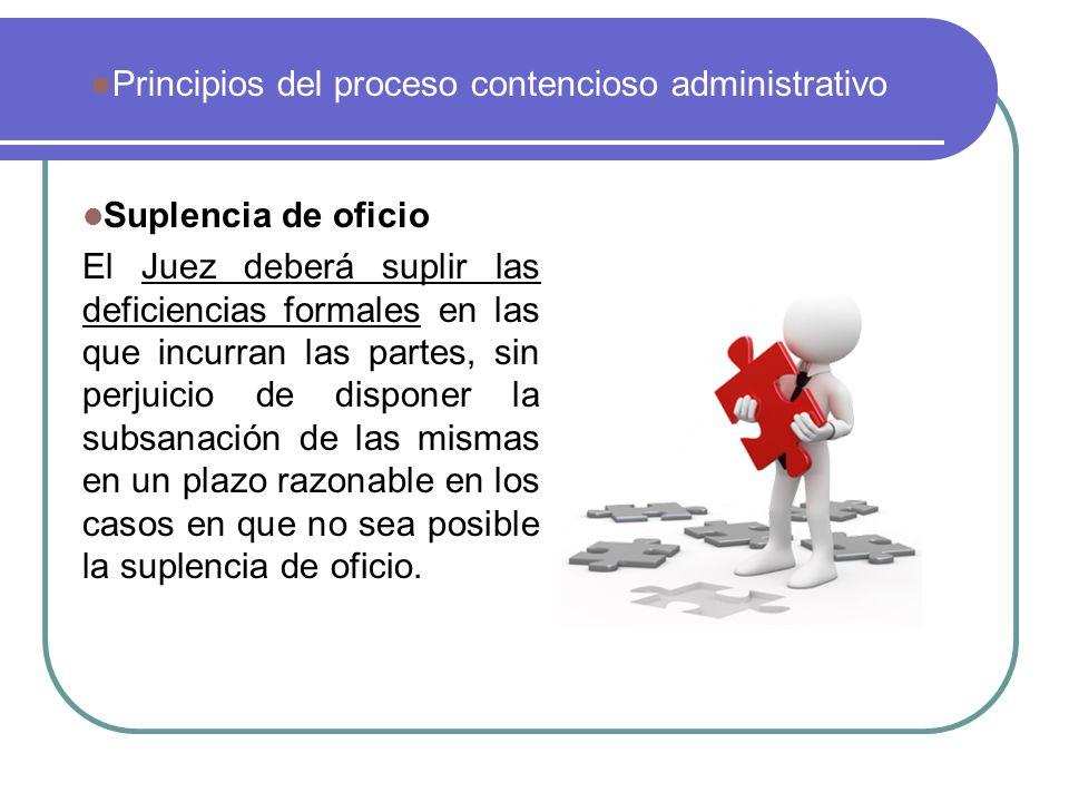 Principios del proceso contencioso administrativo