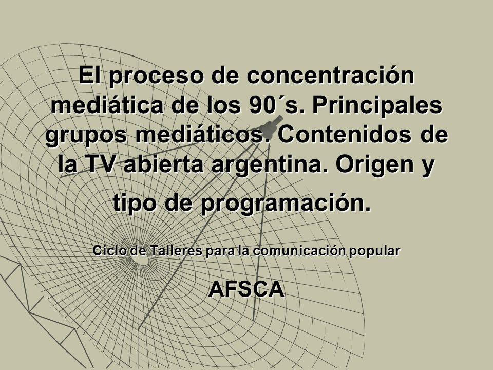 Ciclo de Talleres para la comunicación popular AFSCA