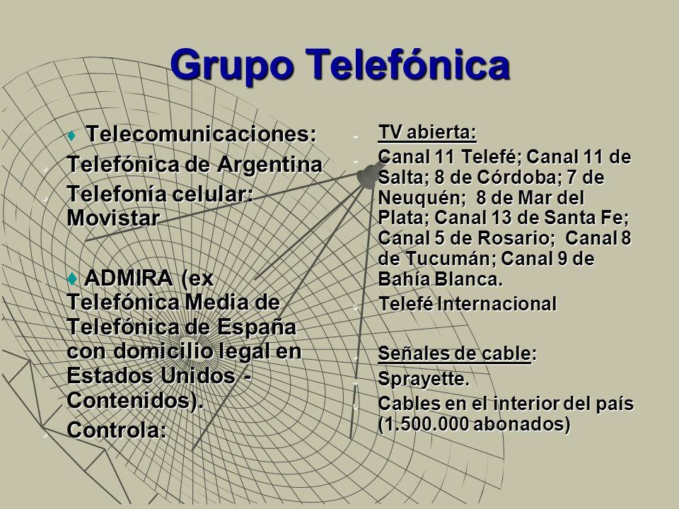 Grupo Telefónica Telefónica de Argentina Telefonía celular: Movistar