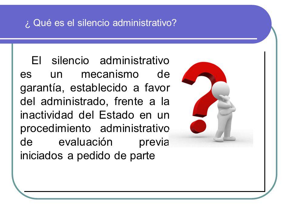 ¿ Qué es el silencio administrativo
