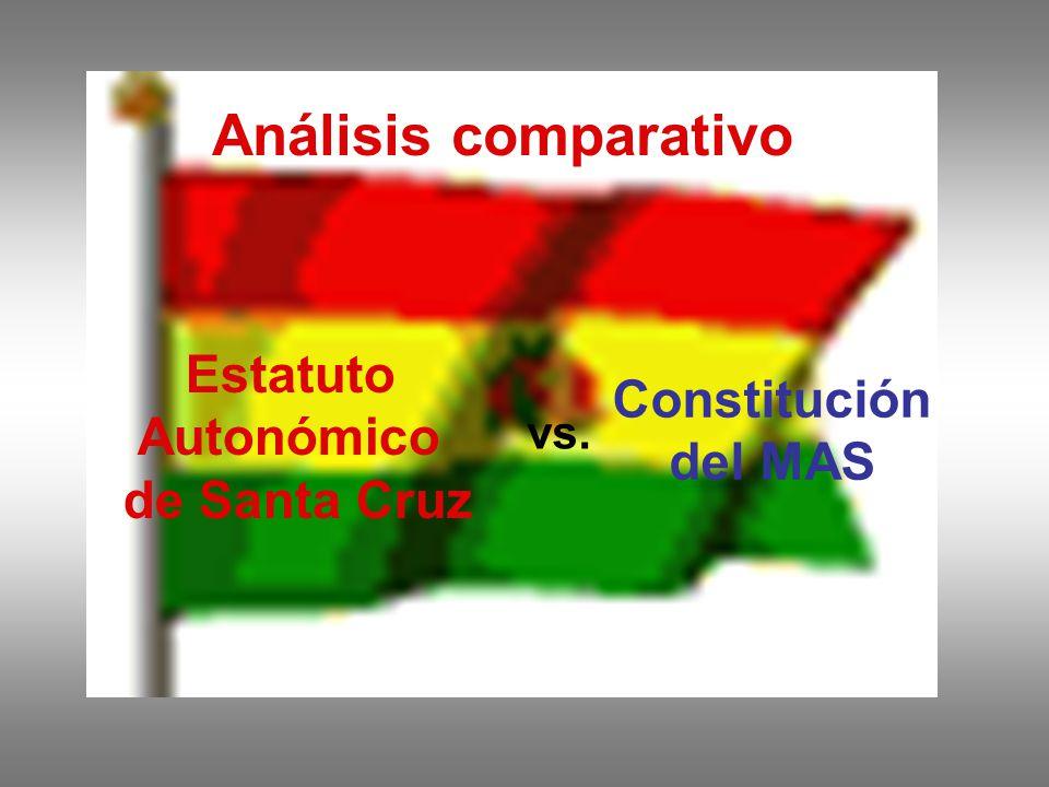 Análisis comparativo Estatuto Constitución Autonómico del MAS