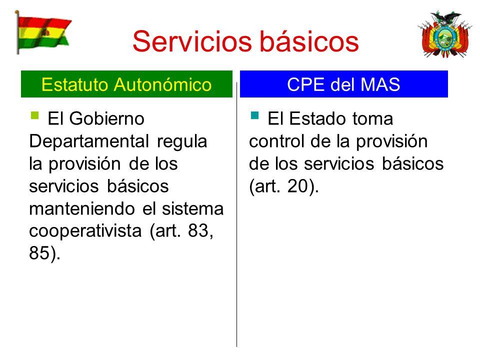 Servicios básicos Estatuto Autonómico CPE del MAS