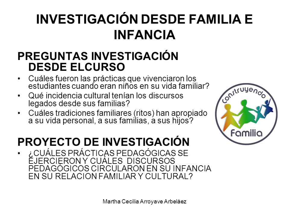 INVESTIGACIÓN DESDE FAMILIA E INFANCIA