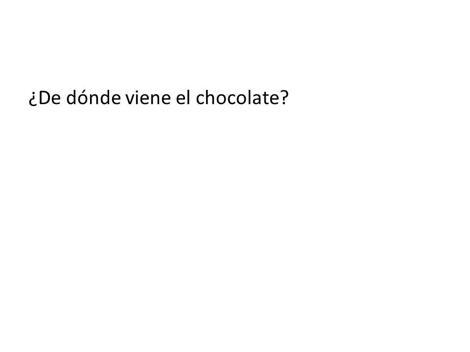 ¿De dónde viene el chocolate