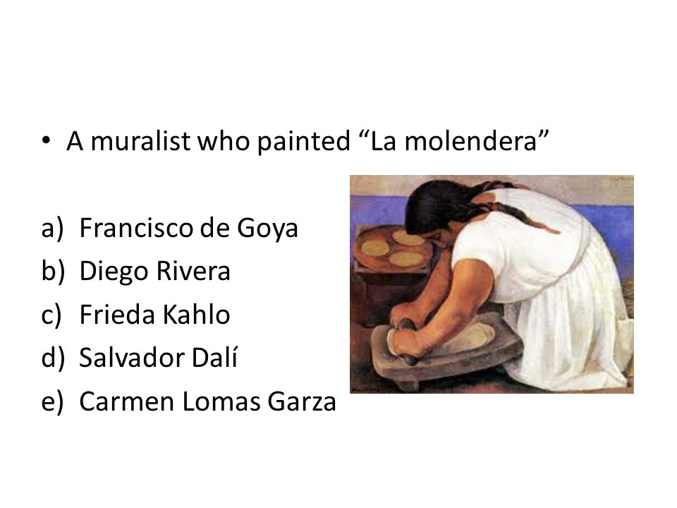A muralist who painted La molendera