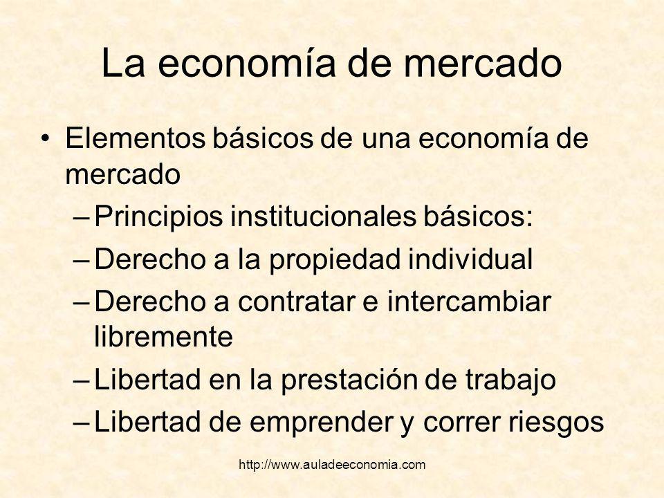 La economía de mercado Elementos básicos de una economía de mercado