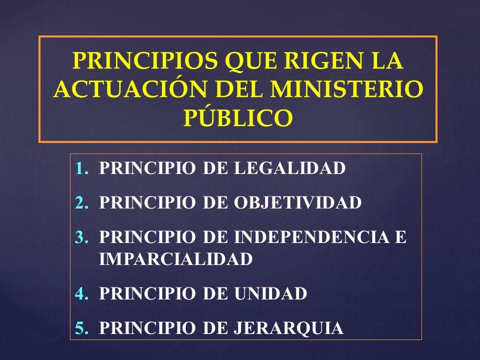 PRINCIPIOS QUE RIGEN LA ACTUACIÓN DEL MINISTERIO PÚBLICO