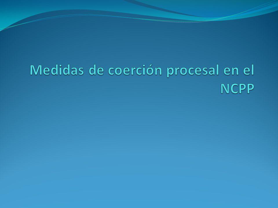 Medidas de coerción procesal en el NCPP