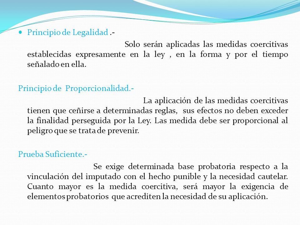 Principio de Legalidad .-
