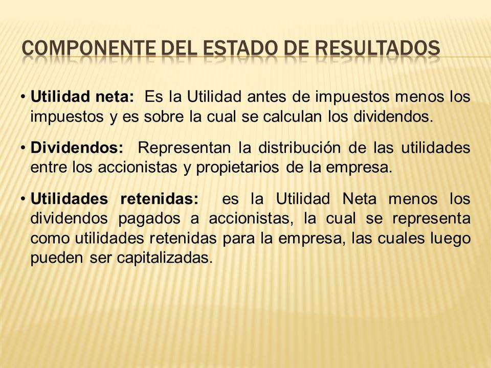 COMPONENTE DEL ESTADO DE RESULTADOS