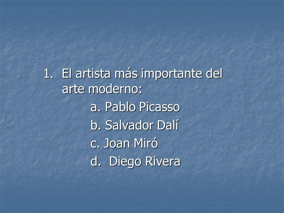 1. El artista más importante del arte moderno:
