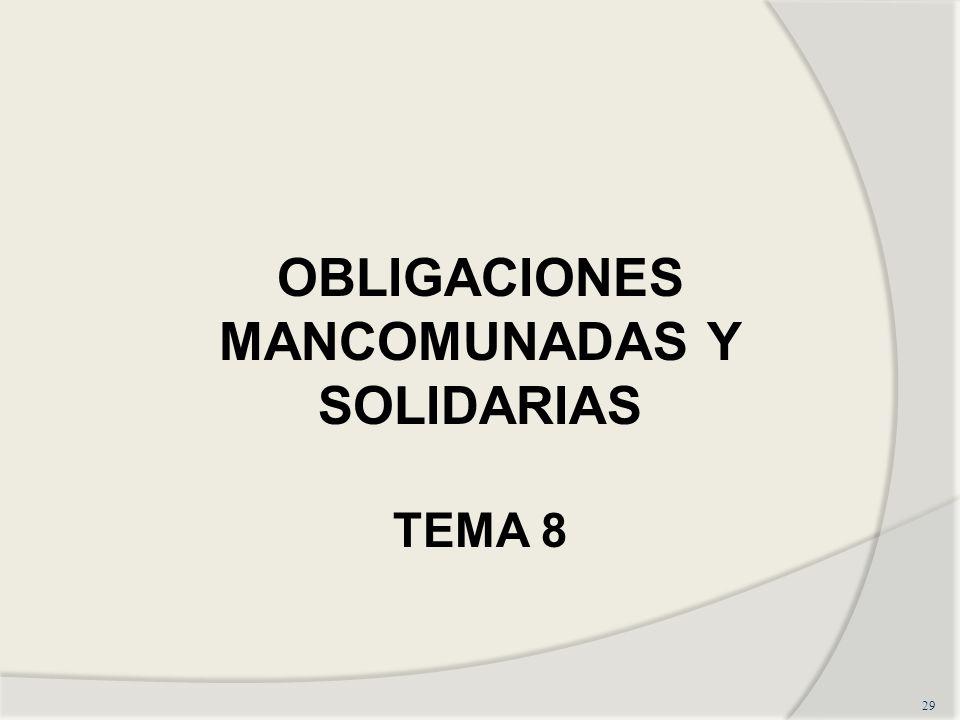 OBLIGACIONES MANCOMUNADAS Y