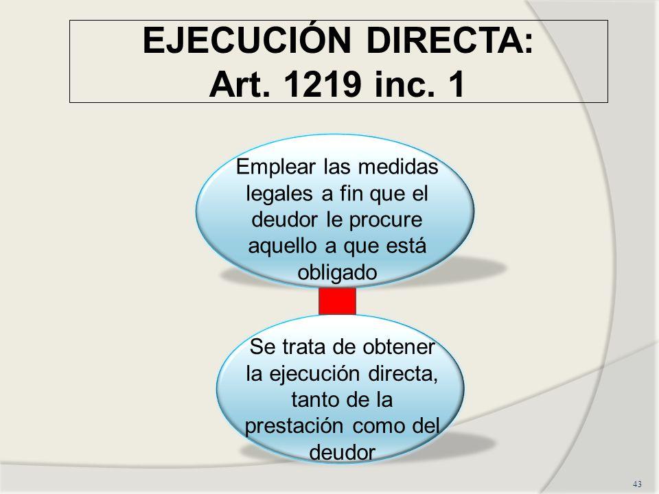 EJECUCIÓN DIRECTA: Art. 1219 inc. 1