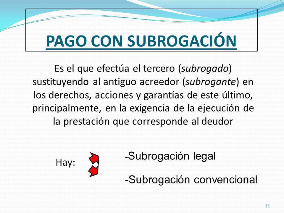 PAGO CON SUBROGACIÓN