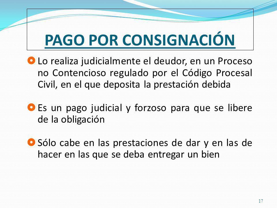 PAGO POR CONSIGNACIÓN