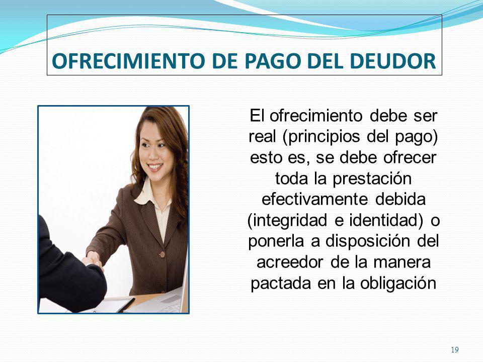 OFRECIMIENTO DE PAGO DEL DEUDOR