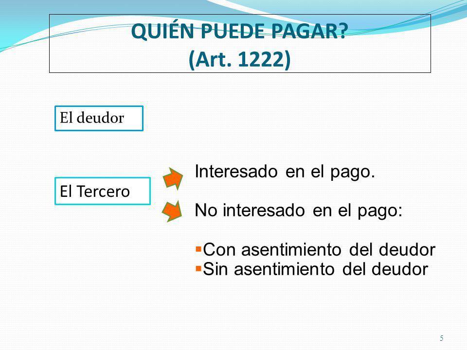 QUIÉN PUEDE PAGAR (Art. 1222)