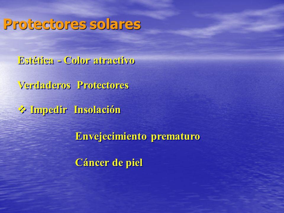 Protectores solares Estética - Color atractivo Verdaderos Protectores