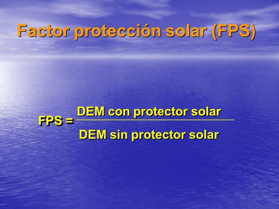 Factor protección solar (FPS)