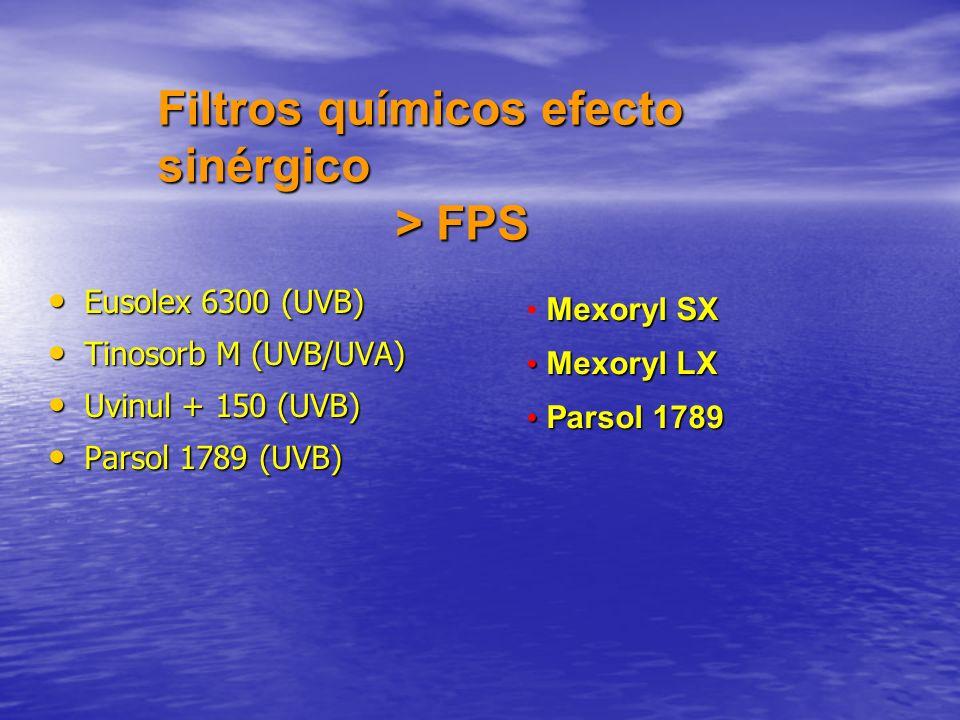 Filtros químicos efecto sinérgico > FPS