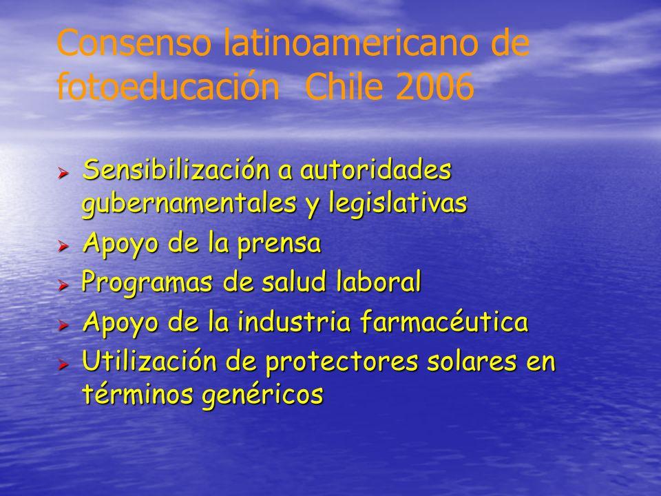 Consenso latinoamericano de fotoeducación Chile 2006
