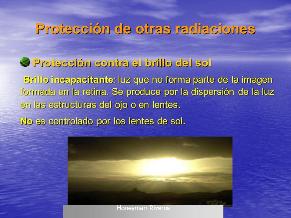 Protección de otras radiaciones