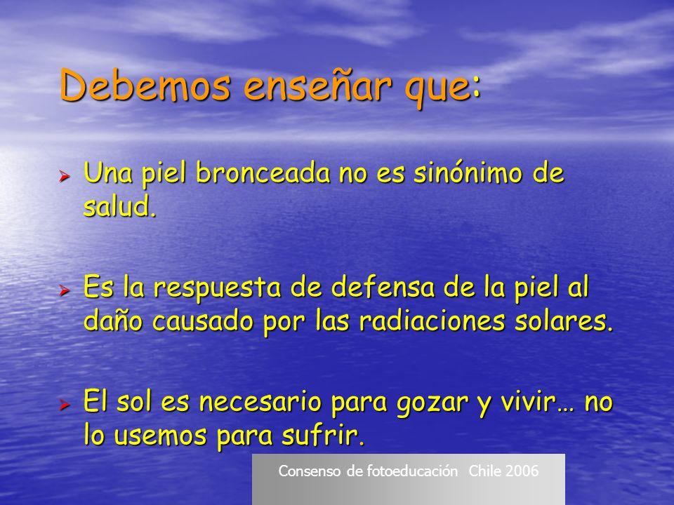 Consenso de fotoeducación Chile 2006