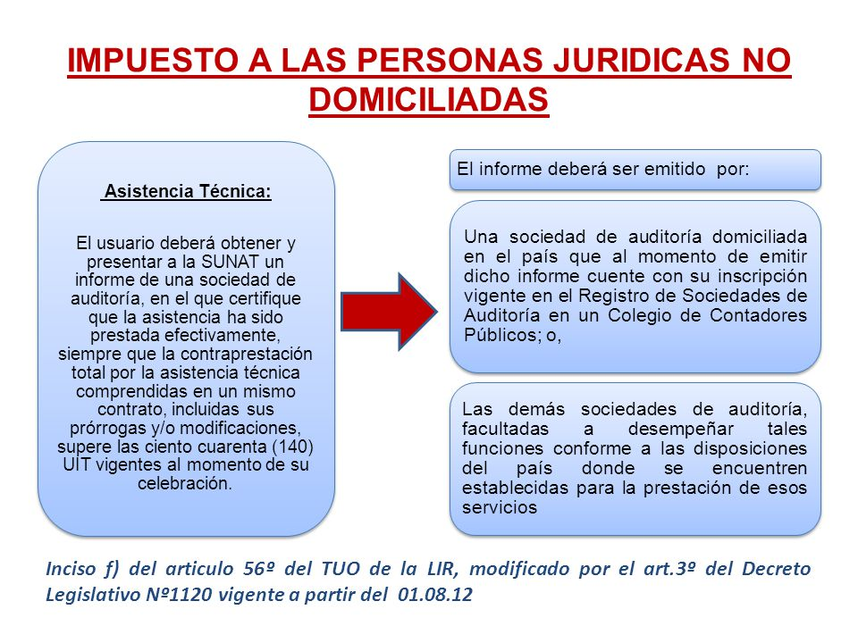 IMPUESTO A LAS PERSONAS JURIDICAS NO DOMICILIADAS