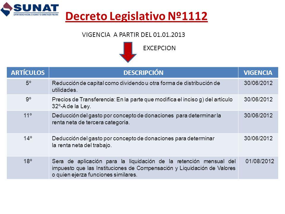 Decreto Legislativo Nº1112