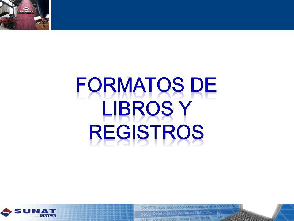 FORMATOS DE LIBROS Y REGISTROS