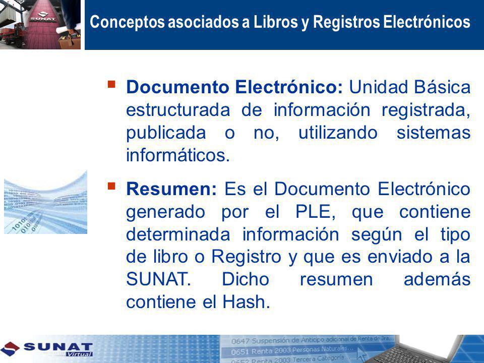 Conceptos asociados a Libros y Registros Electrónicos